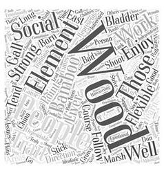 Traits element wood word cloud concept vector