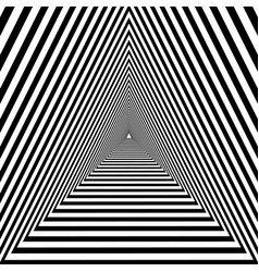 triangular tunnel black and white geometric vector image