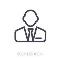 user icon of man in business suit outline icon vector image