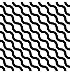 wavy seamless striped diagonal pattern vector image