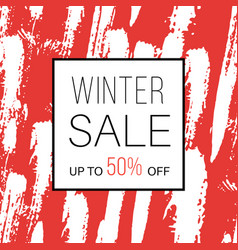winter sale banner for online shopping with vector image