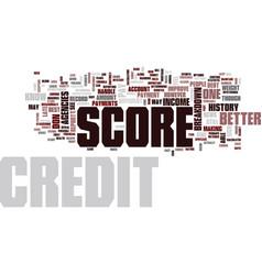 Your credit score breakdown text background word vector