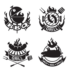 barbecue banners vector image