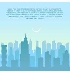 City skyline urban cityscape vector image vector image