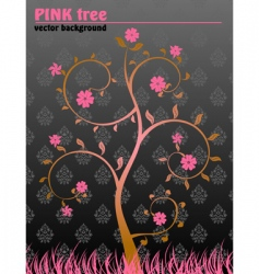floral tree background vector image vector image