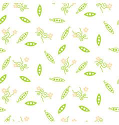 Green sweet pea seamless pattern vector