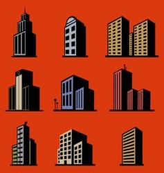 modern buildings vector image vector image