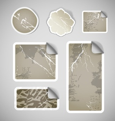 Shopping vintage scratched discount stickers vector image