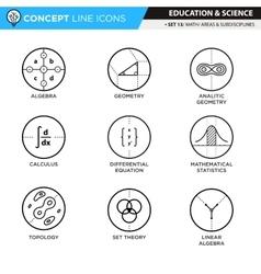 Concept Line Icons Set 13 Math vector image