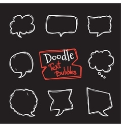 doodle style text bubbles set Cute hand vector image vector image