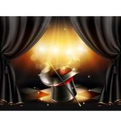 Magic tricks background vector image vector image