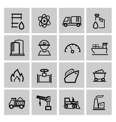 power and energy icons vector image vector image