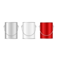 Steel can bucket set vector