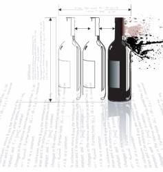 bottle collision vector image vector image
