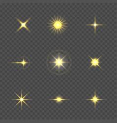 Star burst with sparkles vector