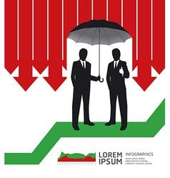 Businessman in Umbrella creative Finance safe vector image vector image