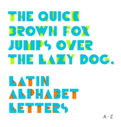 Geometric shapes alphabet letters shadow vector