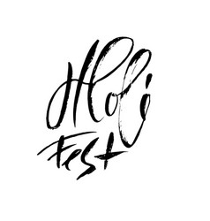 hand drawn brush lettering of vector image