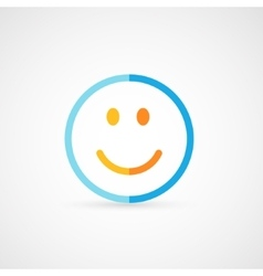 Modern flat icon of funny smile vector image