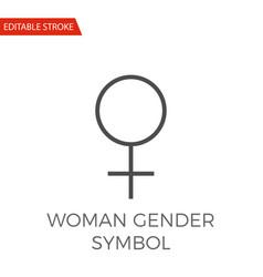 woman gender symbol icon vector image vector image