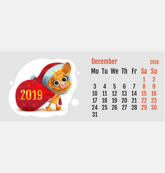 2018 year of yellow dog on chinese calendar fun vector image