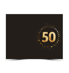 50 years anniversary card vector