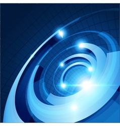 Abstract 3d circle rings background vector