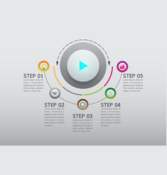 Abstract button infographic option template vector