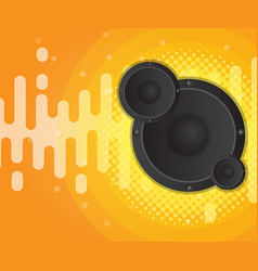 abstract sound wave with speaker and halftone vector image