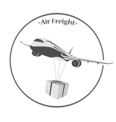 air cargo transportation vector image