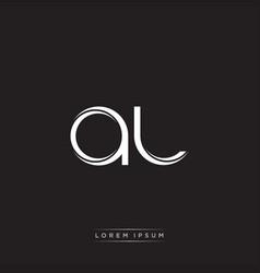 Al initial letter split lowercase logo modern vector