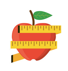 apple measuring tape lose weight vector image