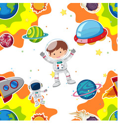 astronaut flying in space vector image