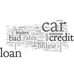 Bad credit car loans a primer vector