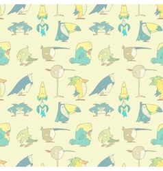 Birds Seamless Background pattern for design and vector image
