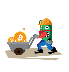 Bitcoin red happy vector
