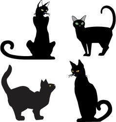 BlackCats vector image