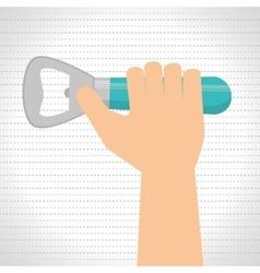 bottle opener design vector image