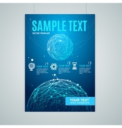 Card flyer or placard with abstract geometry vector
