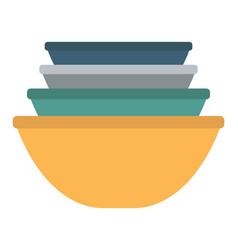 Ceramic earthenware flower pots food bowls vector