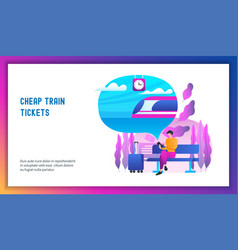 cheap train tickets concept vector image