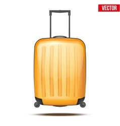Classic plastic luggage suitcase for air or road vector