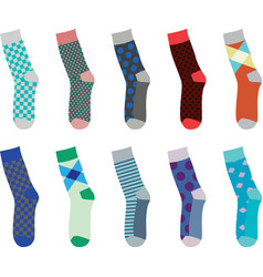 colorful set of socks vector image