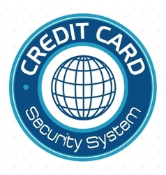 Credit card security system vector
