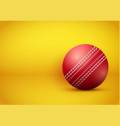 Cricket ball on bright orange background vector
