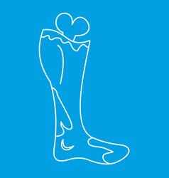 Dead man leg icon outline style vector