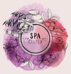 Design for beauty salon watercolor vector