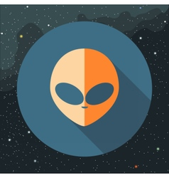 Digital with orange alien head sign vector image