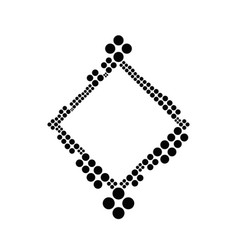 Dot border - modern abstract geometrical graphic vector