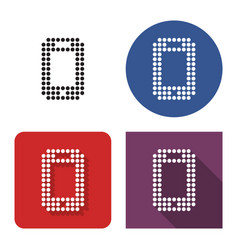 dotted icon smartphone in four variants with vector image